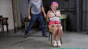 A Suspended Ziptied Tit Whipping for Nova Pink Part 1 [Eng]
