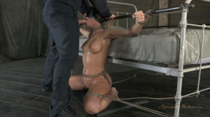 Hot Cougar is Sexually Destroyed WIth Brutal throat and squirting orgasms [2012,Simone Sonay,Bondage,Hardcore,Domination][Eng]