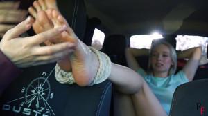 Bdsm Most Popular Tickling Alla in the car by Agata [2020,RussianFetish,BDSM,Feet,Fetish][Eng]