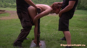 Back to the Barn [2012,InfernalRestraints,Hazel Hypnotic,Bondage,Redhead,Humilation][Eng]