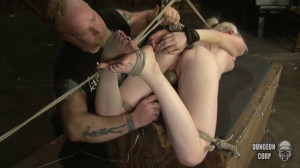 Stripped Shaved And Bound Tegan Riley [Societysm/Dungeoncorp][Eng]