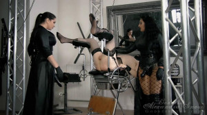 Spread and Fucked [Goddess Alexandra Snow & Mistress Ezada Sinn,made Male Orgasm,Cum Eating,Strap-On][Eng]