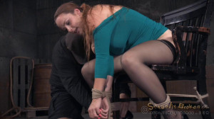 Bella Rossi, Matt Williams and Jack Hammer [2015,Long Hair,Shackles,Sloppy Blow Job On Black Cock][Eng]