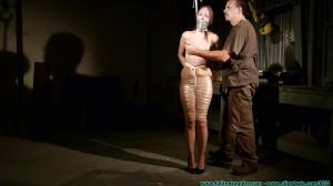 Rachel's Mummified Chair Suspension - Part 1 [2019, mummification, gags, cleave gag][Eng]