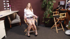 Actress Tied to Directors Chair - Behind the Scenes with Terra Mizu [2018,BedroomBondage,Bondage][Eng]