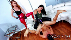 HD Femdom Sex Videos Kendra and Michelle StrapOn [2022,ClubDom,High Heels,Chastity,Humiliation][Eng]