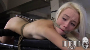 Super bondage, domination and torture for sexy young blonde [2021][Eng]