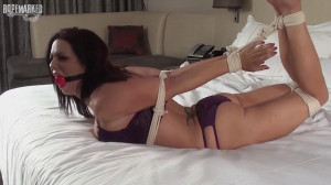 Girlsinabind - Sarah Brook Placed In A Purple Undies Hogtie - Ropemarked Taken Fantasy scene 557 [2018,Ropemarks,Sarah Brooks,Barefoot,foot fetish,toe fetish][Eng]