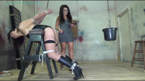 Weighted strappado forced orgasm for busty cuban [2021,Rope,BDSM,Bondage][Eng]