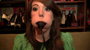 Elizabeth Andrews - Inflatable Butterfly Gag and Transpore Tape Self Gagging [2021,Bondage,BDSM,Rope][Eng]
