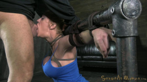 Big titted blond bimbo deepthroats 10in of cock, brutally Ass fucked! [2014,Domination,BDSM,Torture][Eng]