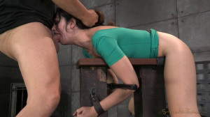 Sarah Shevon restrained and used hard from both [2021,Sarah Shevon,Hardcore,BDSM,Domination][Eng]