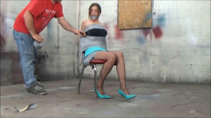 vivian in chair [2017,Humiliation,Bondage,Roped][Eng]