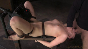 Kasey Warner Belted To Sybian And Brutally Throat Trained By Big Cock [2015,Cock Sucking,Wrist Cuffs,Belt Bondage][Eng]