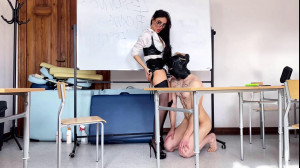 Strapon lesson with Evil Teacher [2021,Femdom,Pegging,Strapon][Eng]