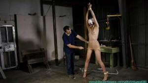 Bondage, strappado and spanking for hot blonde part 2 [2021][Eng]