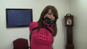 Elizabeth Andrews - New Armbinder in Frisky Office Play [2021,BDSM,Rope,Bondage][Eng]