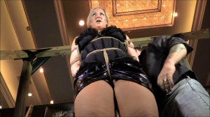 Introducing Carrie Crush In Her First Time Hogtied [2018,Hogtied,Upskirt,BDSM][Eng]