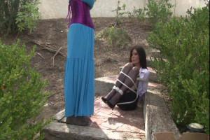 High-Heeled Secretary Ashley Renee Bound Outdoors by Lorelei [Eng]