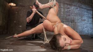 19 Year Old Rope Slut Suffers in Extreme Bondage [Kink: Hogtied,Abella Danger][Eng]