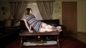 All Taped Up On The Table [2018,Damsel In Distress,Taken,On Screen Gagging][Eng]