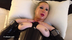 Bondage, domination and torture for very horny bitch in latex [2020][Eng]