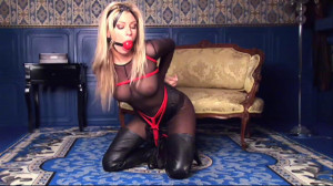 Tied up in Leather! Tasha Marley [Eng]