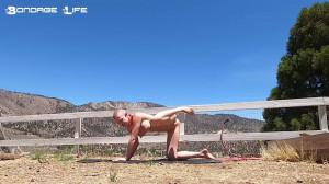 Yoga With Greyhound [2021,BDSM,Rope,Bondage][Eng]