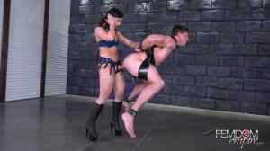 Fuck-boy Straponed By Hot Whitney Wright [2018,Whitney Wright,Stockings,Pegging,Femdom][Eng]