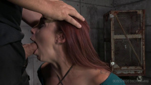 Busty Bella Rossi takes on 2 cocks! [2014,Rope Bondage,Domination,Oral][Eng]