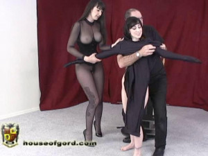 Pulsing Pussy Play [2009,armbinders,spandex,gags][Eng]