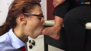 The teacher's feet [Melissa Ramos,Foot Worship,Foot Lick,Foot Gagging][Eng]