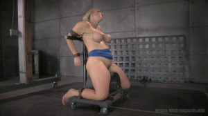 RTB - Angel orgasmblasted on sybian and does inverted deepthroat! [2014,Angel Allwood,Big Breasts,Big Ass,Extreme Bondage][Eng]