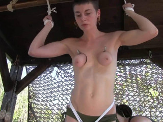 Muriel LaRoja - Breast Hanging and Water Humiliation