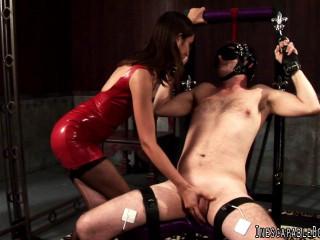 Unavoidable Restrain bondage - Tied to Jizz