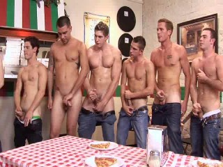 Deep Anal Orgy For Young Pizza Boys