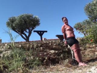 Ziptied & Hosed Down In Spain