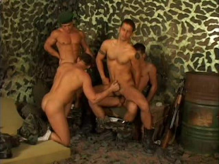 Group Fuck With Sexy Commandos