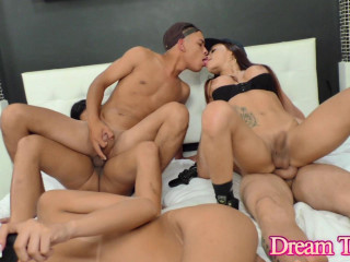 Beauty Shemales In Hot Orgy