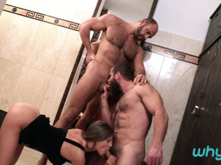 WhyNotBi - Sarah Key, Tomm, Jerry - Strap Him in the Shower (720p)