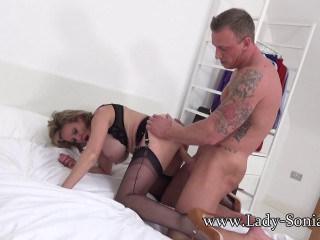 Lady Sonia - Blackmailed Housewife Fucked Bareback