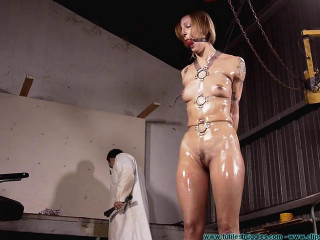 Dr. Cupcakes Binds IR with His New Clear Polymer Straps - Extreme, Bondage, Caning