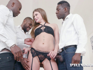 Interracial Gangbangs WIth 4 Big Black Dicks