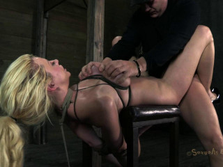 Courtney Taylor, bound, manhandled