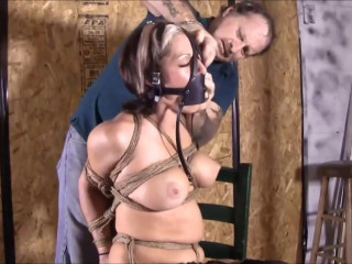 Bondage, hogtie, strappado torment and torment for naughty tart Full HD 1080p