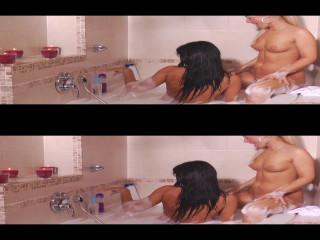 Lesbian Love Part 2 3D Half OverUnder