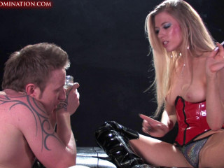 Mistress  Moist Punishes Her Slave