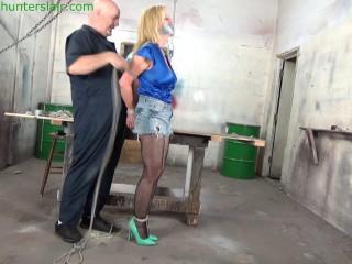 Hunterslair - Jeannie Blaze - Busty Milf's brutal hogtie