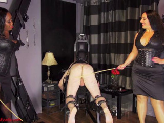 Dominatrix Ezada Sinn & Madame Caramel - An English whipping for an English victim