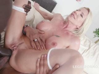 Double Anal Creampie With Blond Milf